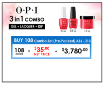 OPI COMBO 3 in 1 Matching - Buy 108 Combo Set (A16-Z13)(NET: $35./combo)