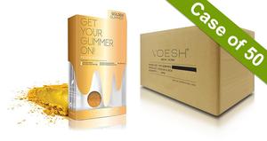 Voesh Case/50pks - Pedi in a Box - 5 Step Glimmer - Golden (VPC507GLD)