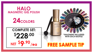 Joya Mia Halo Magnetic Gel .5 oz - COMPLETE SET - 24 COLORS (JMH01-JMH24) GET FREE SAMPLE TIP
