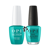 OPI Duo - GCN74 + NLN74 - Dance Party 'Teal Dawn .5 oz