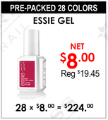 Essie Gel Gel - Pre-Packed 28 Colors (Clearance - No Return)