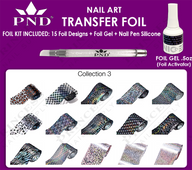 PND Transfer Foil Kit(15designs)+Nico Foil Activator Gel+Nail Pen Silicone Collection #3