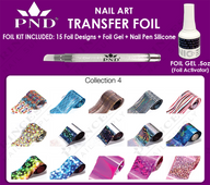 PND Transfer Foil Kit(15designs)+Nico Foil Activator Gel+Nail Pen Silicone Collection #4