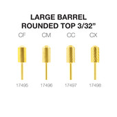 "PND Carbide Bit - Large Barrel Round Top 3/32"" (Gold)"