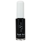 Cre8tion Nail Art Lacquer - Thin Detailer  - 01 Black .33 oz