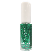 Cre8tion Nail Art Lacquer - Thin Detailer  - 08 Green Glitter .33 oz