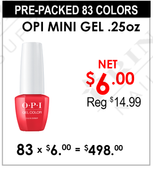 OPI GelColor - Pre-Packed 83 colors (Retired Mini Bottle) (Clearance - No Return)