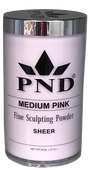 PND Acrylic Powder (Fine Sculpting Powder) - Medium Pink 22 oz.