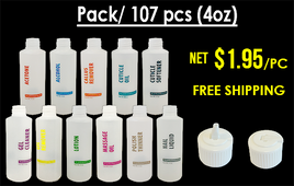 Empty Bottles with Flip-Cap 4oz  Pre Pack 107 pcs FREE SHIPPING