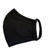Fabric Face Mask, PND 3 ply, Washable, Style B-2, Black (Blue Label), Pack of 100 ($1.25 each), FREE SHIPPING