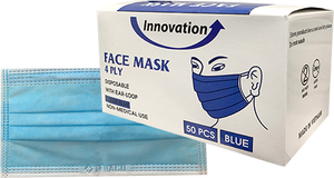 Disposable Innovation 4 Ply Face Mask 50pcs/Box