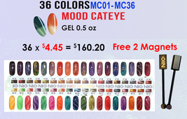 NICo Cateye Gel - MOOD CHANGING - 36 COLORS #01-36+ FREE 2MAGNETS + 1BLANK TIP