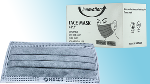 Disposable Innovation 4 Ply Dust Filter Face Mask Pre-Packed 50 boxes/50pc (Net $9.00/box)