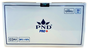 Disposable  PND 3 Ply Face Mask Level 2(92 %) 50pcs/box