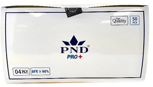 Disposable PND 4 Ply Face Mask Level 1(90%) 50pcs/Box Pre-Packed 50 boxes (Net $7.00/box)