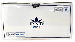 Disposable PND 4 Ply Face Mask Level 2(92%) 50pcs/Box Pre-Packed 50 boxes (Net $7.50/box)