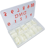 DND Natural Tip Box/550pcs included size 0 to 10