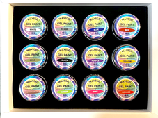 WaveGel Gel Paint Kit - 12 Colors x 10g