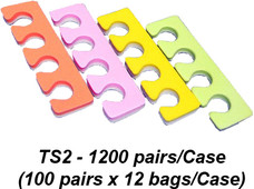 Toe Separators Multi Color - Case of 1200 Pairs (TS2)