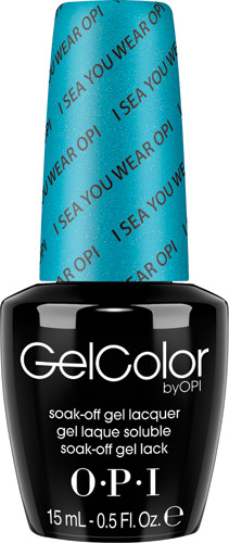 OPI GelColor (BLK) - #GCA73 - I Sea You Wear OPI! - Brights Collection .5 oz