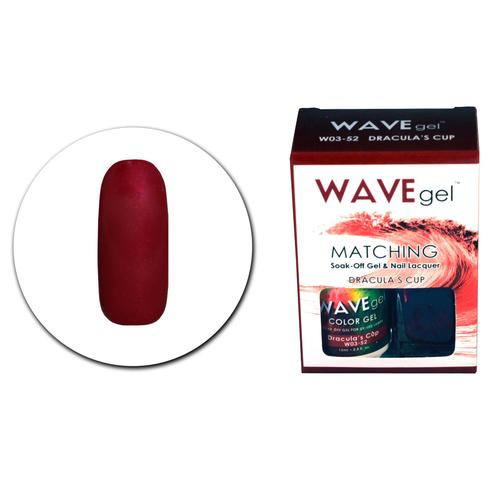 WaveGel Matching S/O Gel & Nail Lacquer - W0352 Dracula's Cup .5 oz