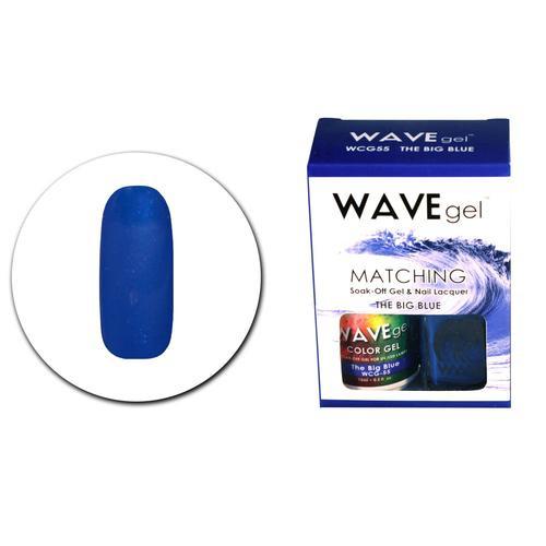 WaveGel Matching S/O Gel & Nail Lacquer - WCG55 The Big Blue .5 oz