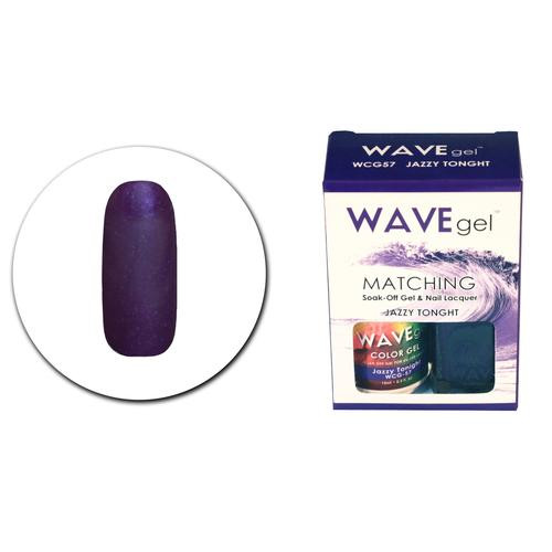 WaveGel Matching S/O Gel & Nail Lacquer - WCG57 Jazzy Tonight .5 oz
