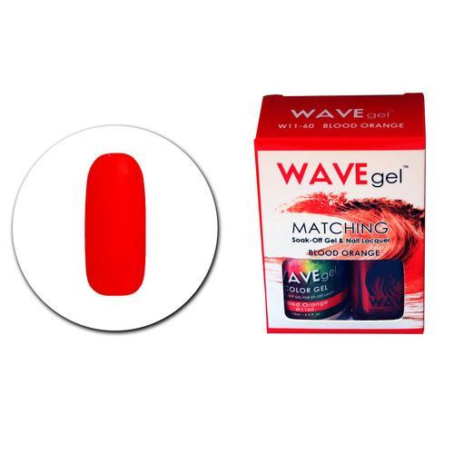 WaveGel Matching S/O Gel & Nail Lacquer - W1160 Blood Orange .5 oz