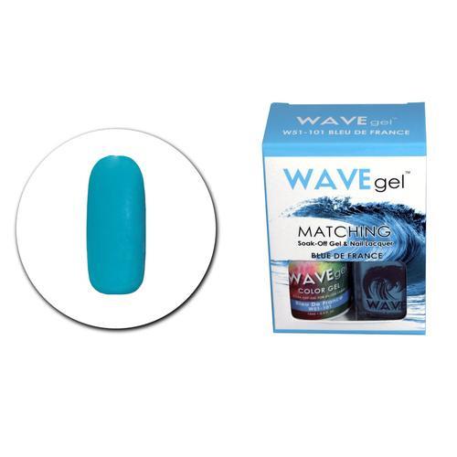 WaveGel Matching S/O Gel & Nail Lacquer - W51101 Blue De France .5 oz