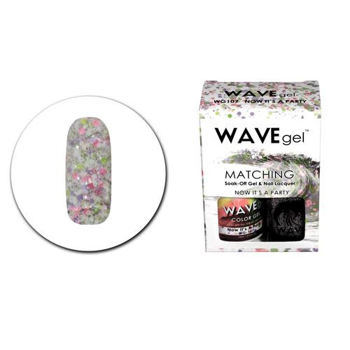 WaveGel Matching S/O Gel & Nail Lacquer - WG107 Now It's A Party .5 oz
