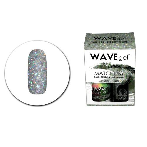 WaveGel Matching S/O Gel & Nail Lacquer - W59108 Discotheque .5 oz