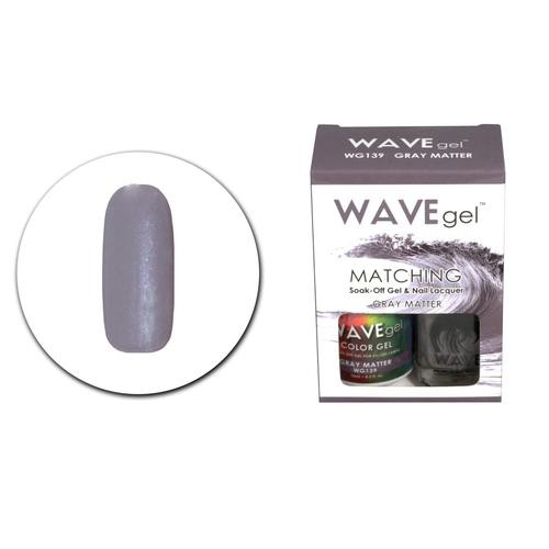 WaveGel Matching S/O Gel & Nail Lacquer - WG139 Gray Matter .5 oz