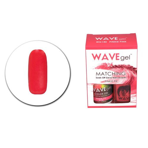 WaveGel Matching S/O Gel & Nail Lacquer - WG140 Pinkie Pie .5 oz