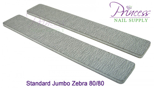 Princess Nail Files - 50 per pack - Jumbo Zebra - Grit Options