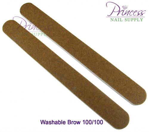 Princess Nail Files - 50 per pack - Washable Brown - Grit Options