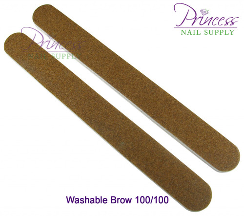 Princess Nail Files - 50 per pack - Washable Brow - Grit Options