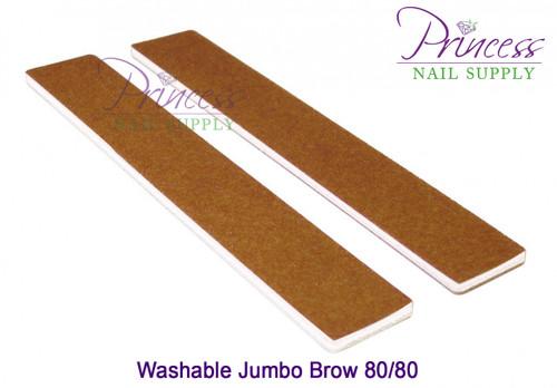 Princess Nail Files - 50 per pack - Washable Jumbo Brown - Grit Options