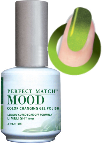 LeChat Mood Color Changing Gel Polish - MPMG42 LIMELIGHT (Frost)
