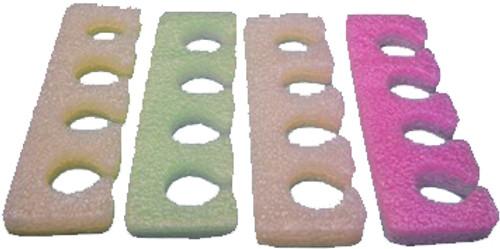 Toe Separators Multi Color - 100 Pairs (TS4)