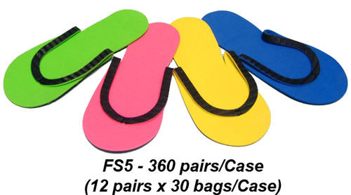 Slip-Resistant Rubber Strip Slipper - Case of 360 Pairs (FS5)