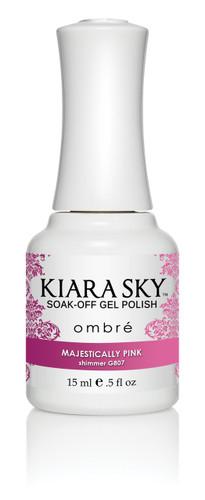 Kiara Sky Ombre Color Changing Gel Polish - G807 Majestically Pink .5oz