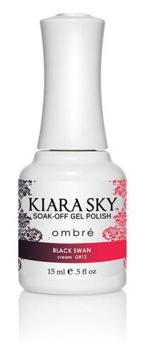 Kiara Sky Ombre Color Changing Gel Polish - G812 Black Swan .5oz