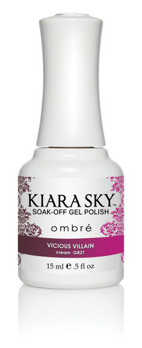 Kiara Sky Ombre Color Changing Gel Polish - G821 Vicious Villain .5oz