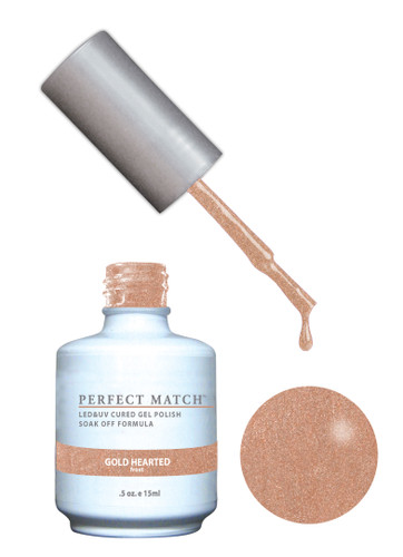 PERFECT MATCH Gel Polish + Lacquer - PMS166 Gold Hearted