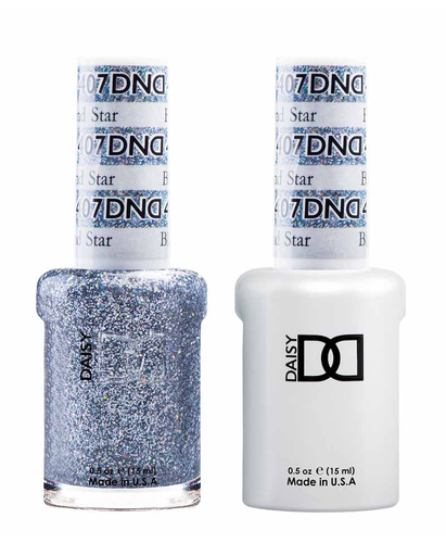 DND Duo Gel - #407 BLACK DIAMOND STAR