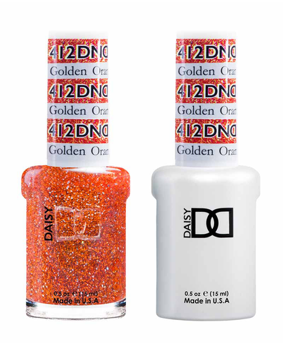 DND Duo Gel - G412 GOLDEN ORANGE STAR
