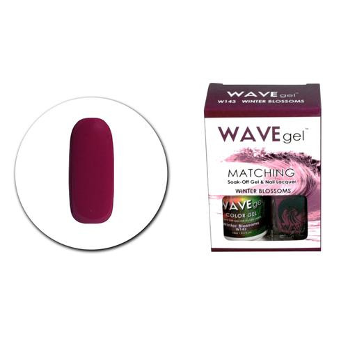 WaveGel Matching S/O Gel & Nail Lacquer - WG143 Winter Blossoms .5 oz