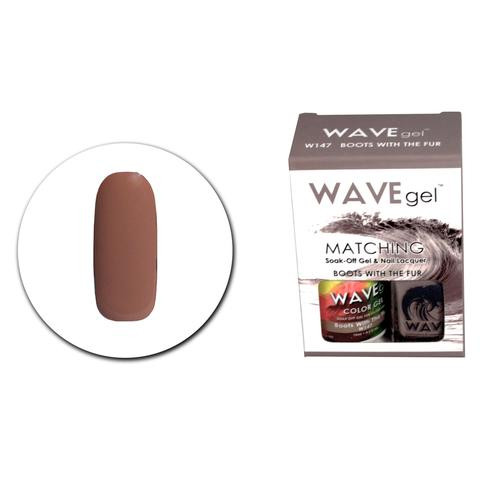 WaveGel Matching S/O Gel & Nail Lacquer - WG147 Boots With The Fur .5 oz