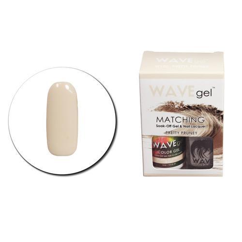 WaveGel Matching S/O Gel & Nail Lacquer - W150 PRETTY PRUNEY .5 oz