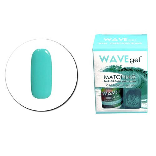WaveGel Matching S/O Gel & Nail Lacquer - W154 CAPRICIOUS ISLAND .5 oz